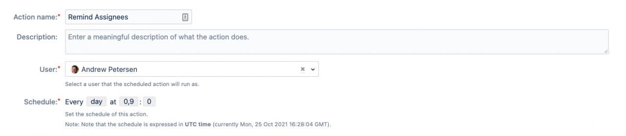 Schedule post functions to run at set times  (Jira Server/Data Center)