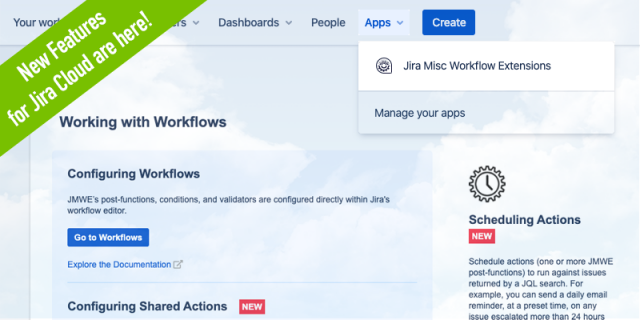 Major new features released in JMWE for Jira Cloud
